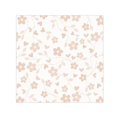 Floral pattern Small Satin Scarf (Square)