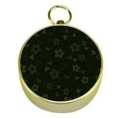 Floral pattern Gold Compasses