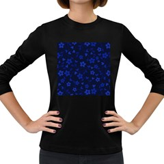 Floral pattern Women s Long Sleeve Dark T-Shirts