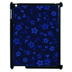 Floral pattern Apple iPad 2 Case (Black)