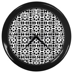 Pattern Wall Clocks (Black)