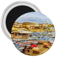 Engabao Beach At Guayas District Ecuador 3  Magnets