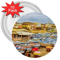 Engabao Beach At Guayas District Ecuador 3  Buttons (10 pack)