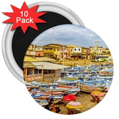 Engabao Beach At Guayas District Ecuador 3  Magnets (10 pack)