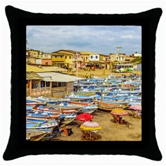 Engabao Beach At Guayas District Ecuador Throw Pillow Case (Black)