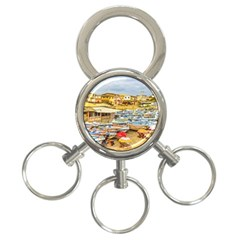 Engabao Beach At Guayas District Ecuador 3-Ring Key Chains