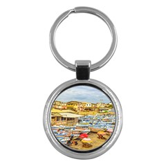 Engabao Beach At Guayas District Ecuador Key Chains (Round)