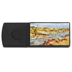 Engabao Beach At Guayas District Ecuador USB Flash Drive Rectangular (2 GB)