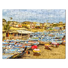 Engabao Beach At Guayas District Ecuador Rectangular Jigsaw Puzzl
