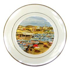 Engabao Beach At Guayas District Ecuador Porcelain Plates