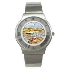 Engabao Beach At Guayas District Ecuador Stainless Steel Watch