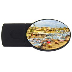 Engabao Beach At Guayas District Ecuador USB Flash Drive Oval (4 GB)