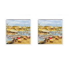 Engabao Beach At Guayas District Ecuador Cufflinks (Square)