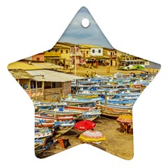 Engabao Beach At Guayas District Ecuador Star Ornament (Two Sides)