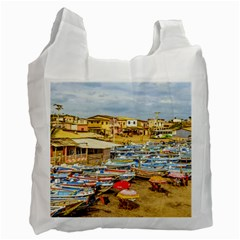 Engabao Beach At Guayas District Ecuador Recycle Bag (Two Side)