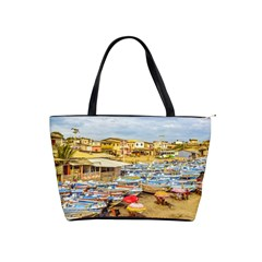 Engabao Beach At Guayas District Ecuador Shoulder Handbags