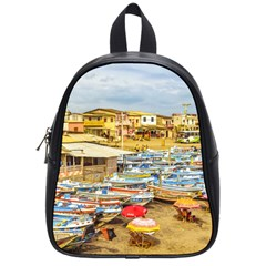 Engabao Beach At Guayas District Ecuador School Bags (Small)