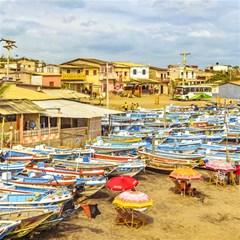 Engabao Beach At Guayas District Ecuador Magic Photo Cubes