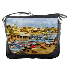 Engabao Beach At Guayas District Ecuador Messenger Bags