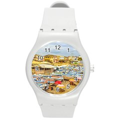 Engabao Beach At Guayas District Ecuador Round Plastic Sport Watch (M)