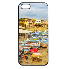 Engabao Beach At Guayas District Ecuador Apple iPhone 5 Seamless Case (Black)