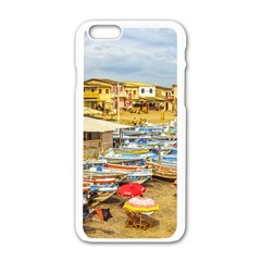 Engabao Beach At Guayas District Ecuador Apple iPhone 6/6S White Enamel Case