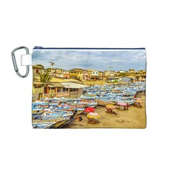 Engabao Beach At Guayas District Ecuador Canvas Cosmetic Bag (M)
