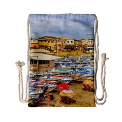 Engabao Beach At Guayas District Ecuador Drawstring Bag (Small)