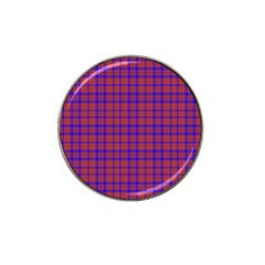 Pattern Plaid Geometric Red Blue Hat Clip Ball Marker (4 pack)