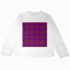 Pattern Plaid Geometric Red Blue Kids Long Sleeve T-Shirts