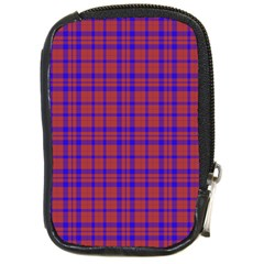 Pattern Plaid Geometric Red Blue Compact Camera Cases