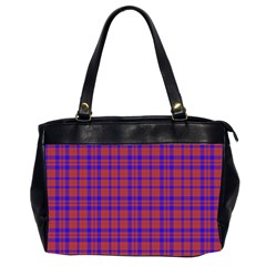 Pattern Plaid Geometric Red Blue Office Handbags (2 Sides)