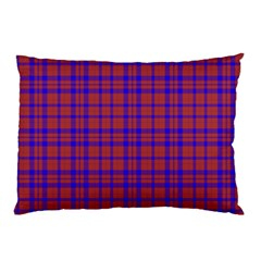 Pattern Plaid Geometric Red Blue Pillow Case (Two Sides)