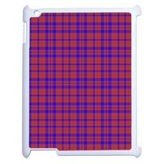 Pattern Plaid Geometric Red Blue Apple iPad 2 Case (White)