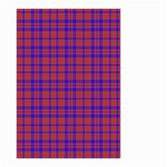 Pattern Plaid Geometric Red Blue Small Garden Flag (Two Sides)