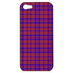 Pattern Plaid Geometric Red Blue Apple iPhone 5 Hardshell Case