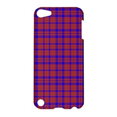 Pattern Plaid Geometric Red Blue Apple iPod Touch 5 Hardshell Case