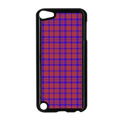 Pattern Plaid Geometric Red Blue Apple Ipod Touch 5 Case (black)