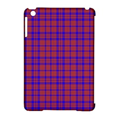 Pattern Plaid Geometric Red Blue Apple iPad Mini Hardshell Case (Compatible with Smart Cover)