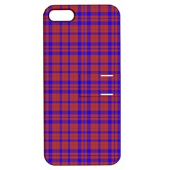 Pattern Plaid Geometric Red Blue Apple Iphone 5 Hardshell Case With Stand