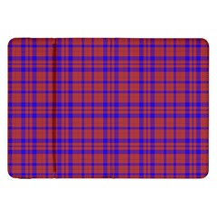 Pattern Plaid Geometric Red Blue Samsung Galaxy Tab 8 9  P7300 Flip Case
