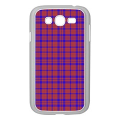 Pattern Plaid Geometric Red Blue Samsung Galaxy Grand DUOS I9082 Case (White)