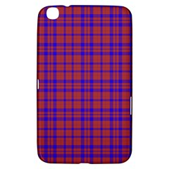 Pattern Plaid Geometric Red Blue Samsung Galaxy Tab 3 (8 ) T3100 Hardshell Case