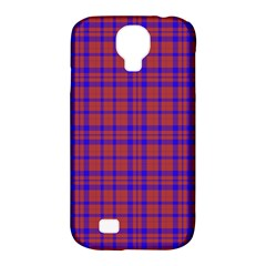 Pattern Plaid Geometric Red Blue Samsung Galaxy S4 Classic Hardshell Case (pc+silicone)