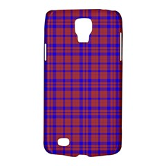Pattern Plaid Geometric Red Blue Galaxy S4 Active