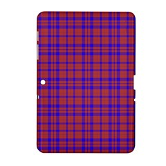 Pattern Plaid Geometric Red Blue Samsung Galaxy Tab 2 (10.1 ) P5100 Hardshell Case