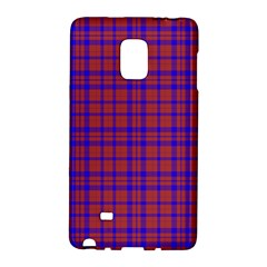 Pattern Plaid Geometric Red Blue Galaxy Note Edge