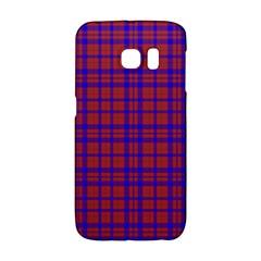 Pattern Plaid Geometric Red Blue Galaxy S6 Edge