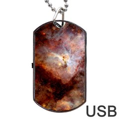 Carina Nebula Dog Tag USB Flash (One Side)