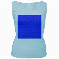 Pattern Women s Baby Blue Tank Top